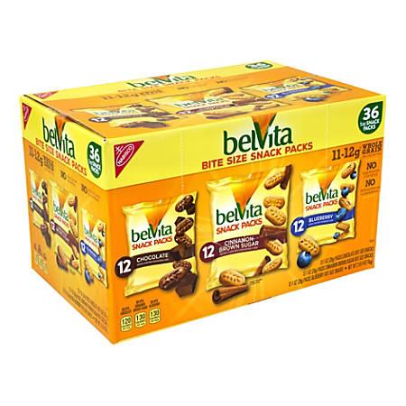 BELVITA Breakfast Biscuits Bite Size Snack Packs Variety, 1 oz, 36 Count