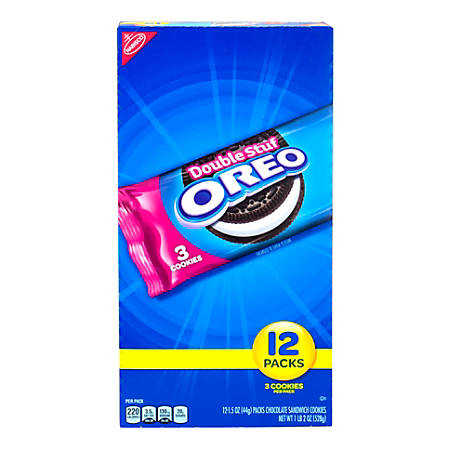 Oreo Double Stuff Sandwich Cookies, Box Of 48 Packs