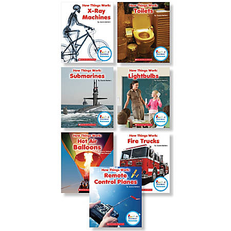 Scholastic Children's Press Rookie Read-About Science How Things Work Book Set, Grades 1-2, Set Of 7 Books