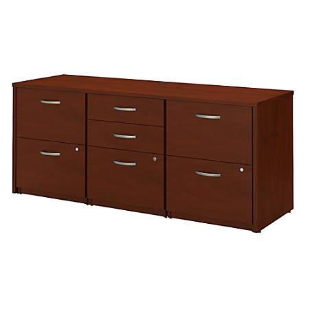 Bush Business Furniture Components Elite Storage Credenza, Hansen Cherry, Premium Installation