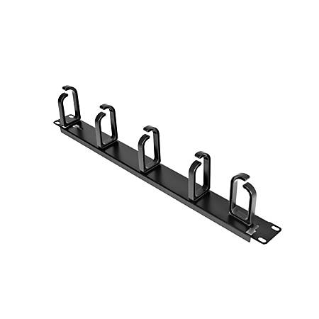 StarTech.com 1U 19in Metal Rackmount Cable Management Panel - Rack cable management kit - 1U - Organize and manage network server and KVM cabling in your server rack - Compatible with StarTech.com 4POSTRACKBK - Horizontal Cable Management Panel/1U Cable