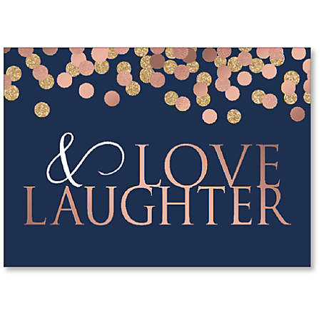 """Viabella Anniversary Greeting Card, Love And Laughter, 5"""" x 7"""", Multicolor"""