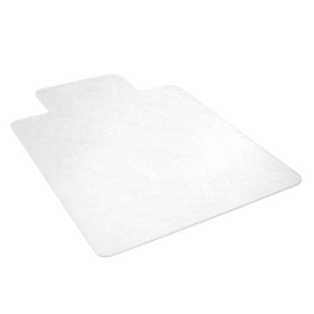 "Deflect-O EconoMat Chair Mat For Hard Floors, Wide Lip, 45"" x 53"", Clear"