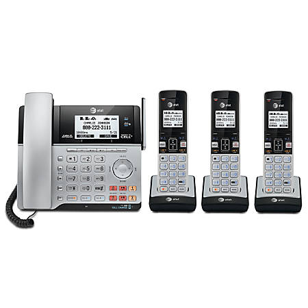 AT&T TL86103 2-Line DECT 6.0 Expandable Corded/Cordless Phone System with Digital Answering System