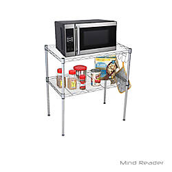 Mind Reader 2 Tier Microwave Shelf
