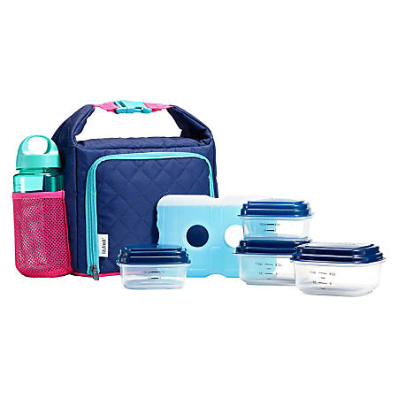 Fit & Fresh Willow Sport Lunch Kit, Blue