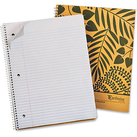 "Mead® Wirebound Notebook, 8 1/2"" x 11"", 1 Subject, College Ruled, 160 Pages (80 Sheets), 30% Recycled, Tan"