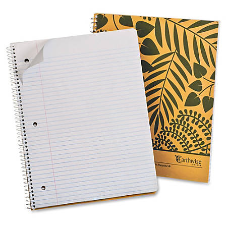 """Mead® Wirebound Notebook, 8 1/2"""" x 11"""", 1 Subject, College Ruled, 160 Pages (80 Sheets), 30% Recycled, Tan"""