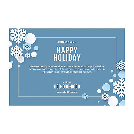 Window Decal Template, Snow Border, Horizontal