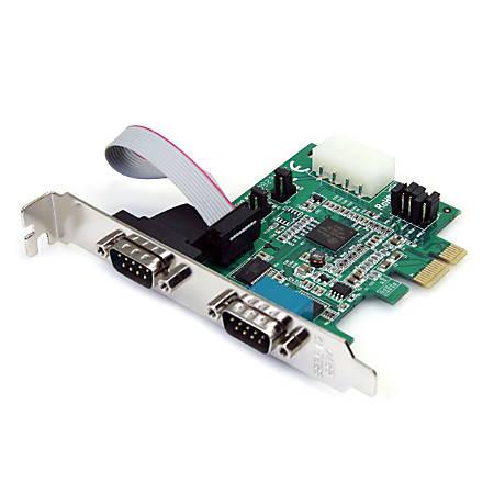 StarTech.com 2 Port PCI Express Serial Adapter Card
