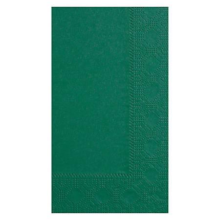 "Hoffmaster Napkins, 7-1/2"" x 4-1/4"", Hunter Green, Case Of 1,000 Napkins"