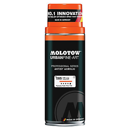 MOLOTOW UrbanFine-Art Artist Acrylic Spray Paint - 13.50 fl oz - 1 Each - DARE Orange