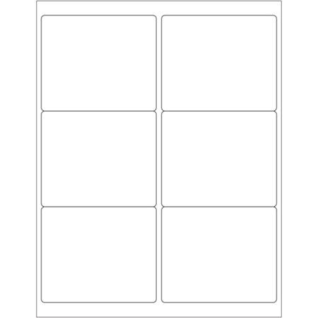 """Office Depot® Brand Weather-Resistant Laser Labels, LL253WR, 4"""" x 3 1/3"""", White, Case Of 600"""