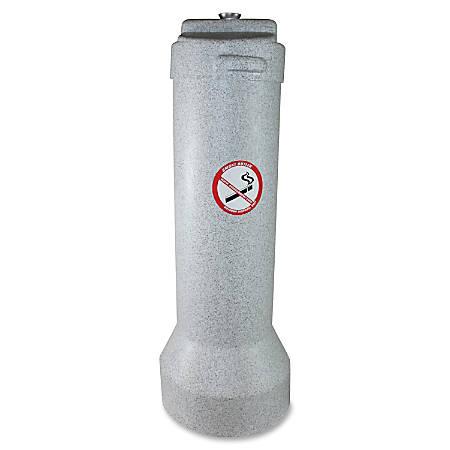 """Butler Outdoor Smoker's Receptacle - 25"""" Height - Aluminum, Steel - Gray Granite"""