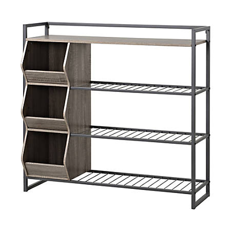 Homestar North America 4-Shelf Shoe Rack, Dark Brown