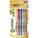 BIC® Brite Liner® Highlighters, Chisel Point, Assorted, 5-Pack
