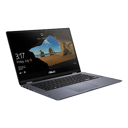 "ASUS® VivoBook Flip Laptop, 14"" Touch Screen, Intel® Core™ i3, 4GB Memory, 128GB Solid State Drive, Windows 10 Home in S mode,TP412FA-OS31T"