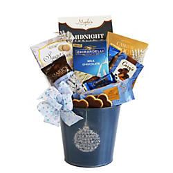 Givens Gifting Blue Holiday Ornament Tin
