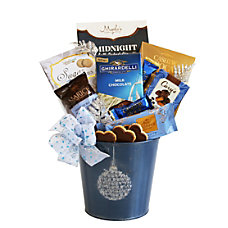 Givens Gifting Blue Holiday Ornament Tin