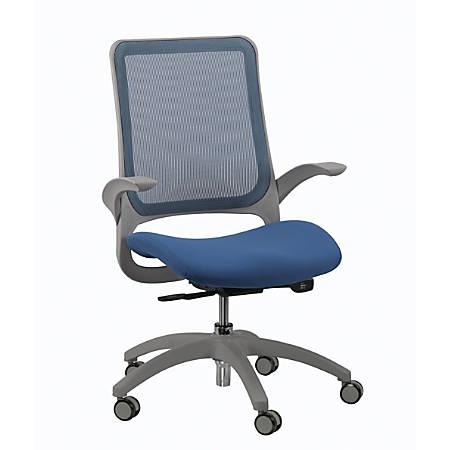 Eurotech Hawk Mesh Mid-Back Task Chair, Blue/Gray