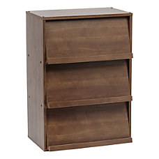 IRIS Wood Shelf With Pocket Doors