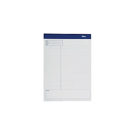 """TOPS™ Docket Gold™ Premium Writing Pads, 8 1/2"""" x 11 3/4"""", Wide Ruled, 40 Sheets, White, Pack Of 4 Pads"""