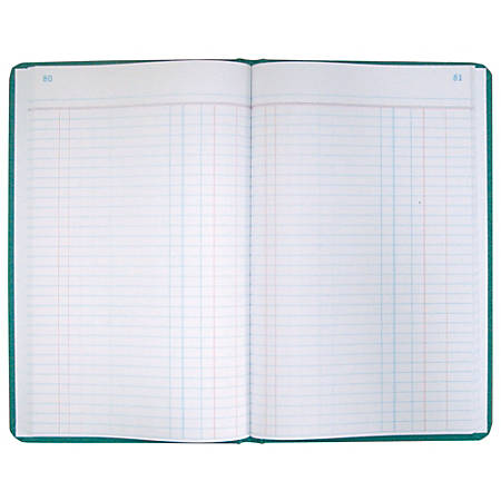 """Boorum & Pease® Canvas Account Book, Journal, 16 Lb., 12 1/8"""" x 7 5/8"""", 300 Pages, Blue"""