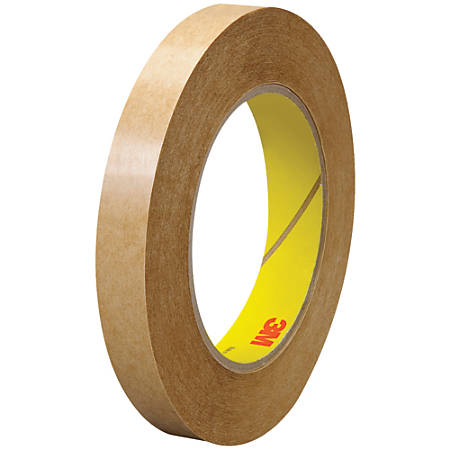 """3M™ 463 Adhesive Transfer Tape, 3"""" Core, 0.5"""" x 60 Yd., Clear, Case Of 6"""