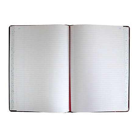 "Boorum & Pease® Account Record Book, 8 5/8"" x 14 1/8"", Record Ruled, 300 Pages, Black/Red"