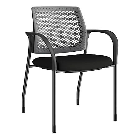 HON Ignition ReActiv-Back Stacking Chair, Black