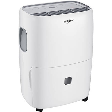 "Whirlpool Energy Star Portable Dehumidifier, 50 Pint, 19 5/16""H x 14 5/8""W x 10 5/8""D"