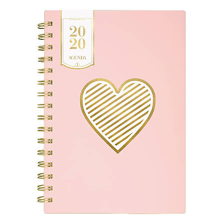 """See Jane Work Heart Of Gold Weekly/Monthly Planner, 5-1/2"""" x 8-1/2"""", Pink, January to December 2020"""