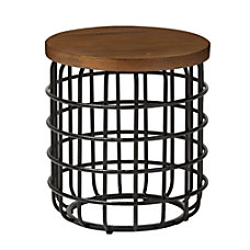 Baxton Studio Veronica Accent Table Brown