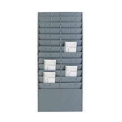 Steelmaster Time CardTicket Message Rack Gray