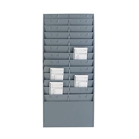 Steelmaster® Time Card/Ticket Message Rack, Gray