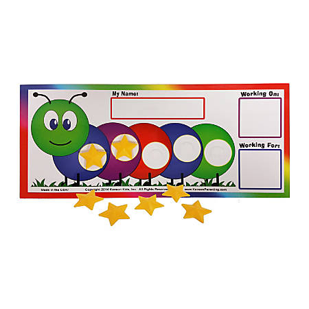 Kenson Parenting Solutions I Can Do It! Token Board, Caterpillar, Preschool - Grade 3