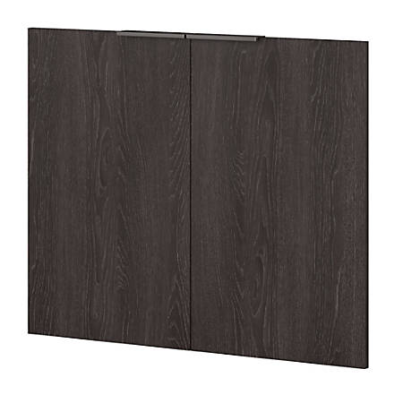 kathy ireland® Office by Bush Business Furniture Atria Door Kit For 5 Shelf Bookcase, Charcoal Gray, Standard Delivery