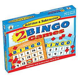 Carson Dellosa Bingo Games Addition Subtraction