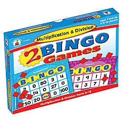 Carson Dellosa Bingo Games Multiplication Division