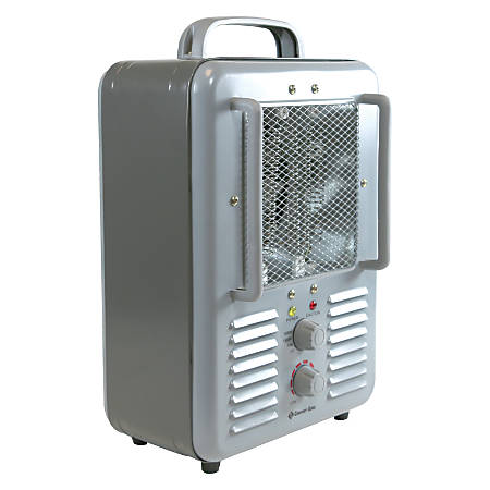 Comfort Zone Deluxe Milkhouse Heater/Fan - Electric - 1300 W to 4000 W - 3 x Heat Settings - Portable - Gray