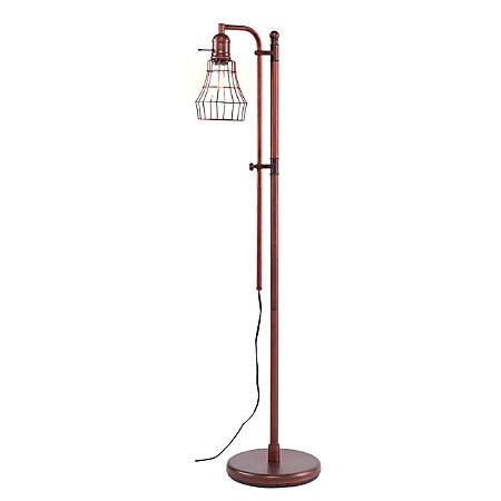 "Southern Enterprises Tylan Floor Lamp, 66""H, Antique Bronze"