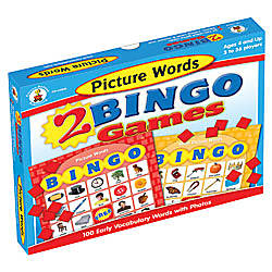 Carson Dellosa Bingo Games Picture Words