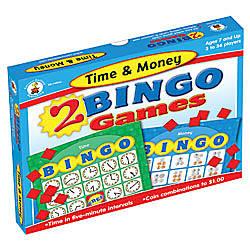 Carson Dellosa Bingo Games Time Money