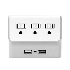 iHome Trio Multicharge Power Adapter Gray