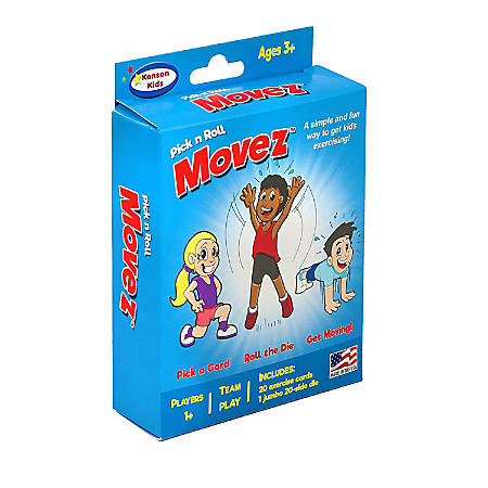 """Kenson Parenting Solutions Pick N' Roll Movez Activity Card Game, 4"""" x 6"""", Preschool - College"""