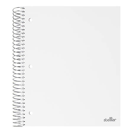 """Office Depot® Brand Stellar Poly Notebook, 8-1/2"""" x 11"""", 3 Subject, Wide Ruled, 300 Pages (150 Sheets), White"""
