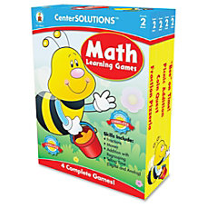 Carson Dellosa CenterSOLUTIONS Learning Games Math