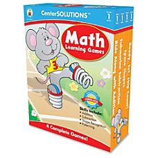 Carson Dellosa CenterSOLUTIONS Learning Games Math