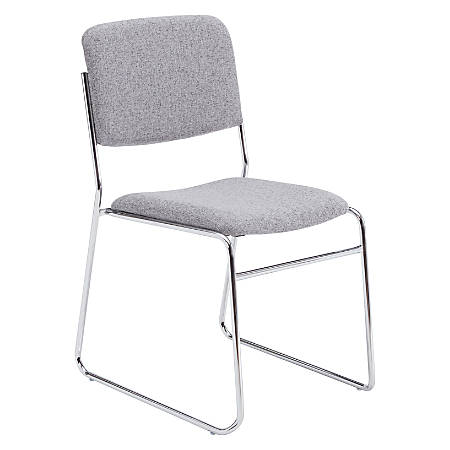 National Public Seating 8600 Signature Series Stack Chair, Gray/Chrome