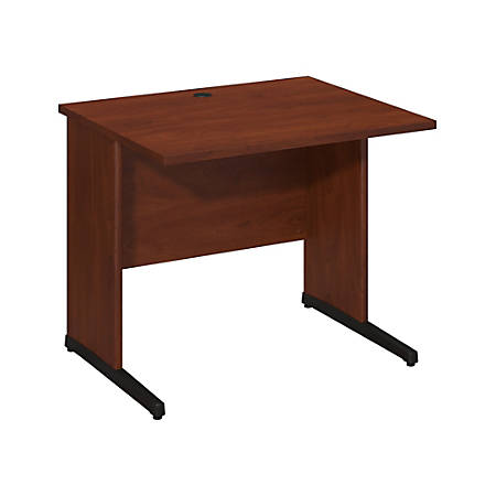 "Bush Business Furniture Components Elite C Leg Desk 36""W x 30""D, Hansen Cherry, Premium Installation"